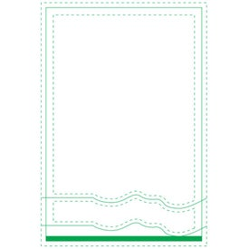 "Semi-Circles Beveled Adhesive Sticky Note Pads (4"" x 6"")"