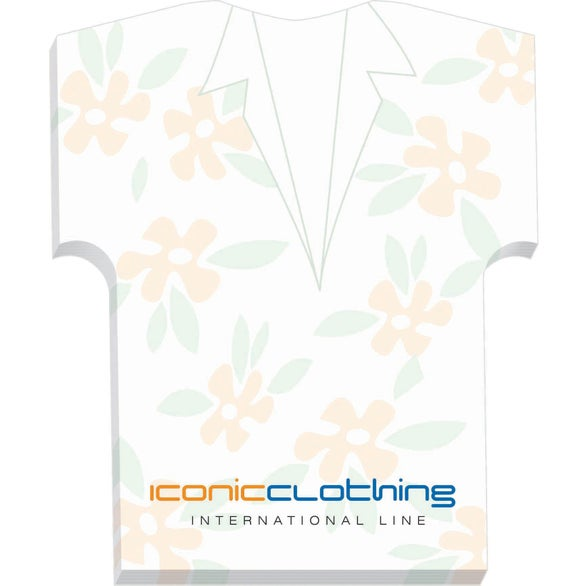 White Shirt BIC Ecolutions Adhesive Die Cut Notepad