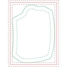 Shopping Bag Adhesive Notepads (Medium, 50 Sheets)