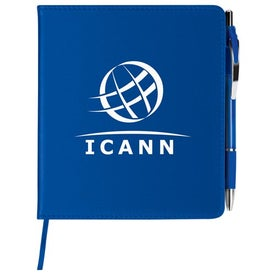 Customized Slim Leatherette Notebook/Combo