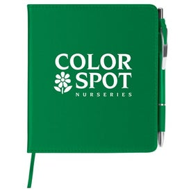 Imprinted Slim Leatherette Notebook/Combo