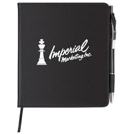 "Slim Leatherette Notebook/Combo (5-1/4"" x 6"")"