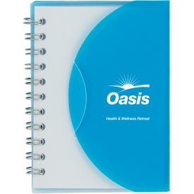 Small Notebook With Slip Cover Imprinted with Your Logo