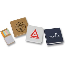 Branded Small Note Pad with Sticky Flags