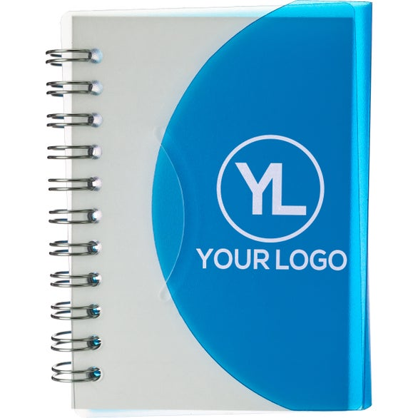 Translucent Blue Small Curve Notebook