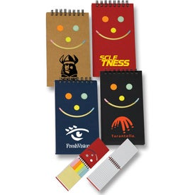 Smile Jotter with Sticky Notes (50 Sheets)