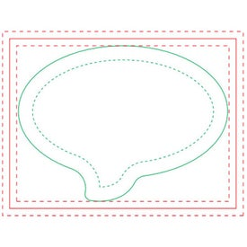 "Speech Bubble BIC Ecolutions Adhesive Die Cut Notepad (25 Sheets, 3.6939"" x 2.7475"")"