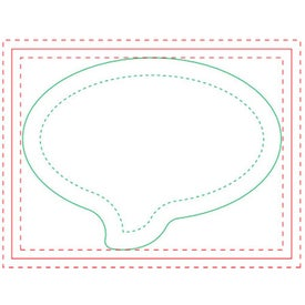 "Speech Bubble BIC Ecolutions Adhesive Die Cut Notepad (4"" x 3"", 100 Sheets)"