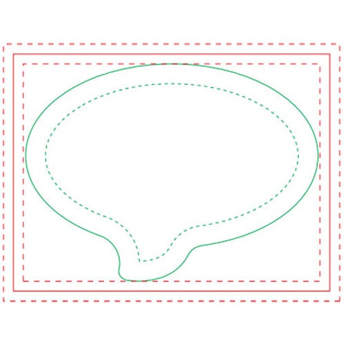 Speech Bubble Adhesive Notepad