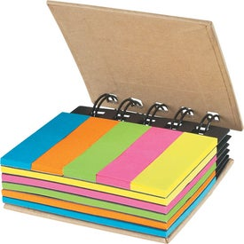 Spiral Book With Sticky Notes And Flags for Advertising