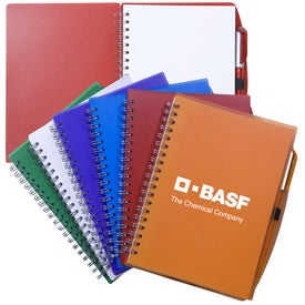 Customizable Spiral Notebook with Pen