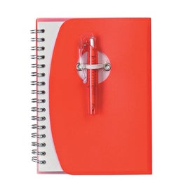 Spiral Notebook With Shorty Pen Branded with Your Logo