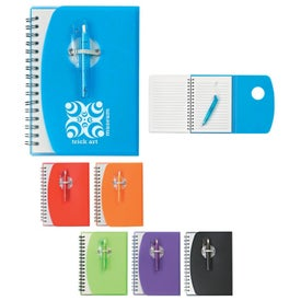 Spiral Notebook With Shorty Pen for Customization