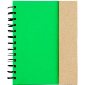 Company Spiral Notebook with Sticky Notes and Flags