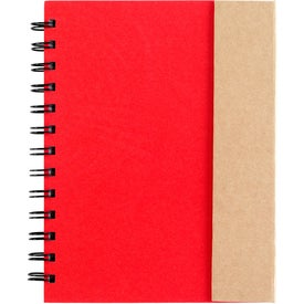 Advertising Spiral Notebook with Sticky Notes and Flags