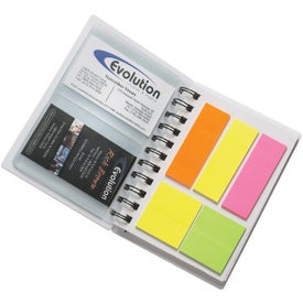 Spiral Notebook With Sticky Notes with Your Slogan