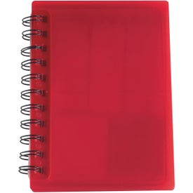 Advertising Spiral Notebook With Sticky Notes