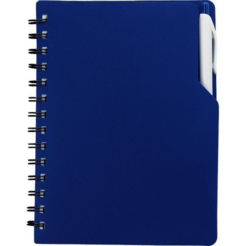 Royal Blue Notebook with Pen
