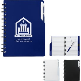Company Spiral Notebooks with Pens
