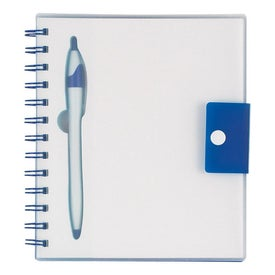 Logo Spiral Notebook With Dart Pen