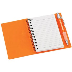 Spiral Notebook with Pen for Marketing
