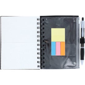 Imprinted Spiral Pocket Organizer and Sticky Note Combo