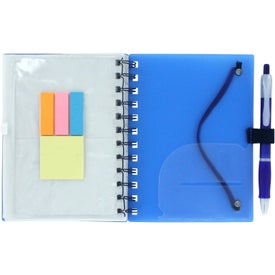 Spiral Pocket Organizer and Sticky Note Combo for Advertising