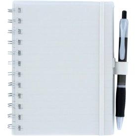 Company Spiral Pocket Organizer and Sticky Note Combo
