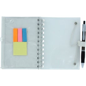 Personalized Spiral Pocket Organizer and Sticky Note Combo