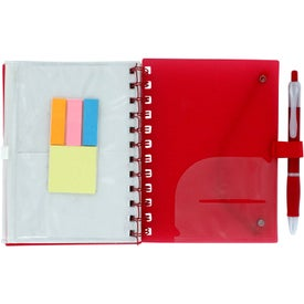 Advertising Spiral Pocket Organizer and Sticky Note Combo