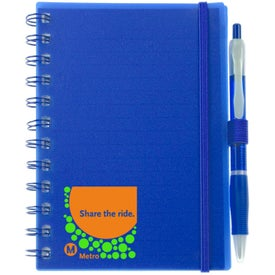 Promotional Spiral Pocket Organizer and Sticky Note Combo