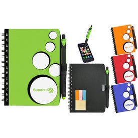 SpotLight Notebook with Sticky Note Combo with Your Slogan