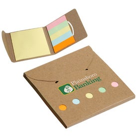 Square Deal Sticky Note Wallet with Your Logo