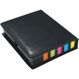 Leather Look Case of Sticky Notes, Calendar, Pen for Your Organization