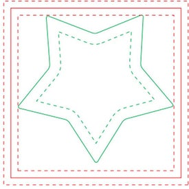 "Star BIC Ecolutions Adhesive Die Cut Notepad (25 Sheets, 2.7264"" x 2.6038"")"