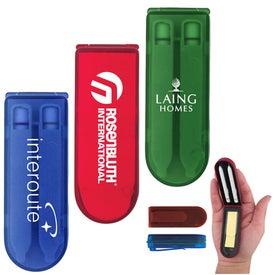 Company Sticky Note Pen Set