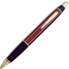 Imprinted Taurus Ballpoint Pen with Gold or Chrome Trim