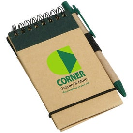 Custom Think Green Recycled Notepad And Pen