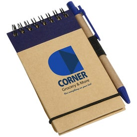 Personalized Think Green Recycled Notepad And Pen
