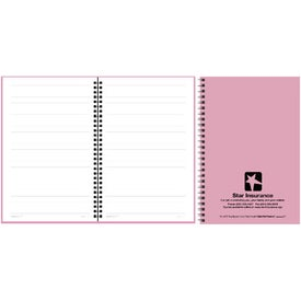 Imprinted Translucent Cover Notebook