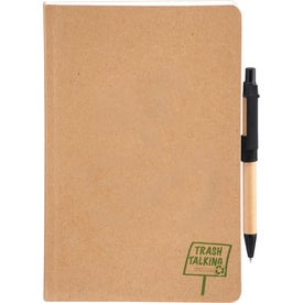Trash Talking Recycled Bound JournalBook Imprinted with Your Logo