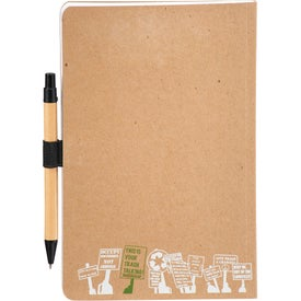 Logo Trash Talking Recycled Bound JournalBook