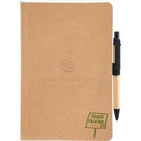 Imprinted Trash Talking Recycled Bound JournalBook