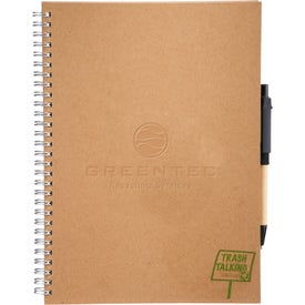 Customized Trash Talking Recycled Spiral JournalBook