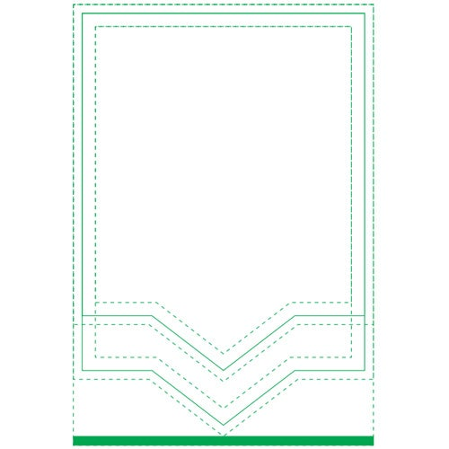 White BIC Triangle Beveled Adhesive Sticky Note Pad