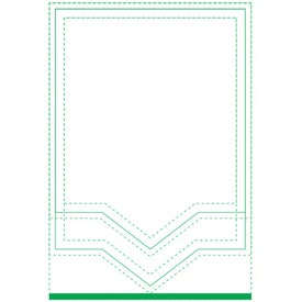 "Triangle Beveled Adhesive Sticky Note Pads (4"" x 6"")"