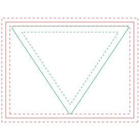 Triangle Adhesive Sticky Note Pads Printed with Your Logo