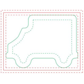 Truck Adhesive Sticky Note Pads (Medium, 100 Sheets)