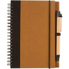 Two Tone Recycle Notebook Printed with Your Logo
