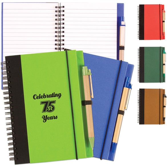 Two Tone Recycle Notebook